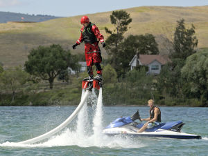 'Flyboard' a jet stream of water on Flathead Lake