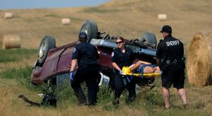 Teenagers taken to hospital after being ejected from vehicle during rollover