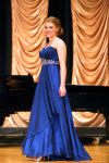 Rebekah Allen competes in the evening gown competition