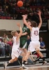 Central's Jacob Stanton passes over the Butte double team