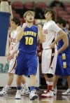 Fairview's Cody Vitt reacts late in overtime