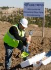 Eddie Perez from Goldwind USA unpacks shovels