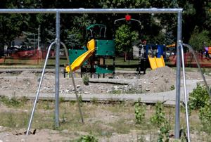 Pioneer Park playground nearly ready, but South Park must wait another week