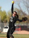 Katie Zink pitches for Billings West