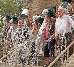 Rocky Mountain College president accepts ice bucket challenge and challenges MSUB, Carroll College
