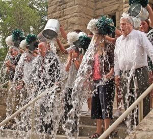 Rocky president accepts ALS ice bucket challenge and challenges MSUB, Carroll