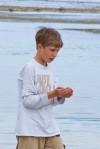 Brody Schillo explores the shore