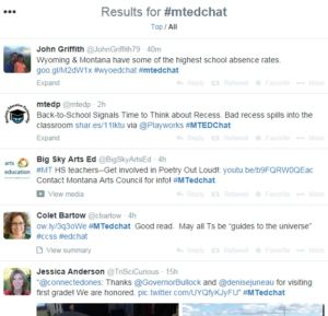 Teachers learn from top educators through Twitter sessions