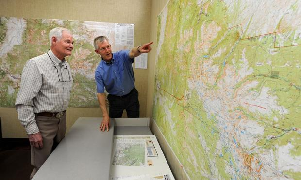 New wall map covers entire Absaroka-Beartooth Wilderness