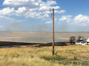 Grass fire breaks out in field between Billings and Roundup