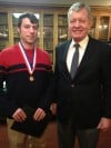 UM law student awarded Distinguished Patriot's Medal for service to veterans