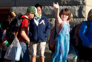 Can-do attitude helps under-construction schools on first day