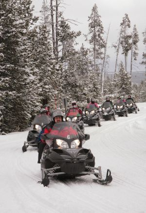 Yellowstone opens to self-guided snowmobilers