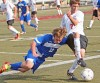 Senior's Ethan Brown, 2, and Skyview's Ryne Icenoggle, 12, battle for the ball