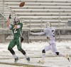 Central's Jacob Stanton, 2, hauls in a touchdown