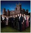 Downton cast in front of Highclere