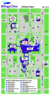 A map of recent building projects at Billings Clinic