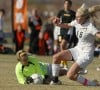 West goalkeeper Kaylee Kimmet saves a shot