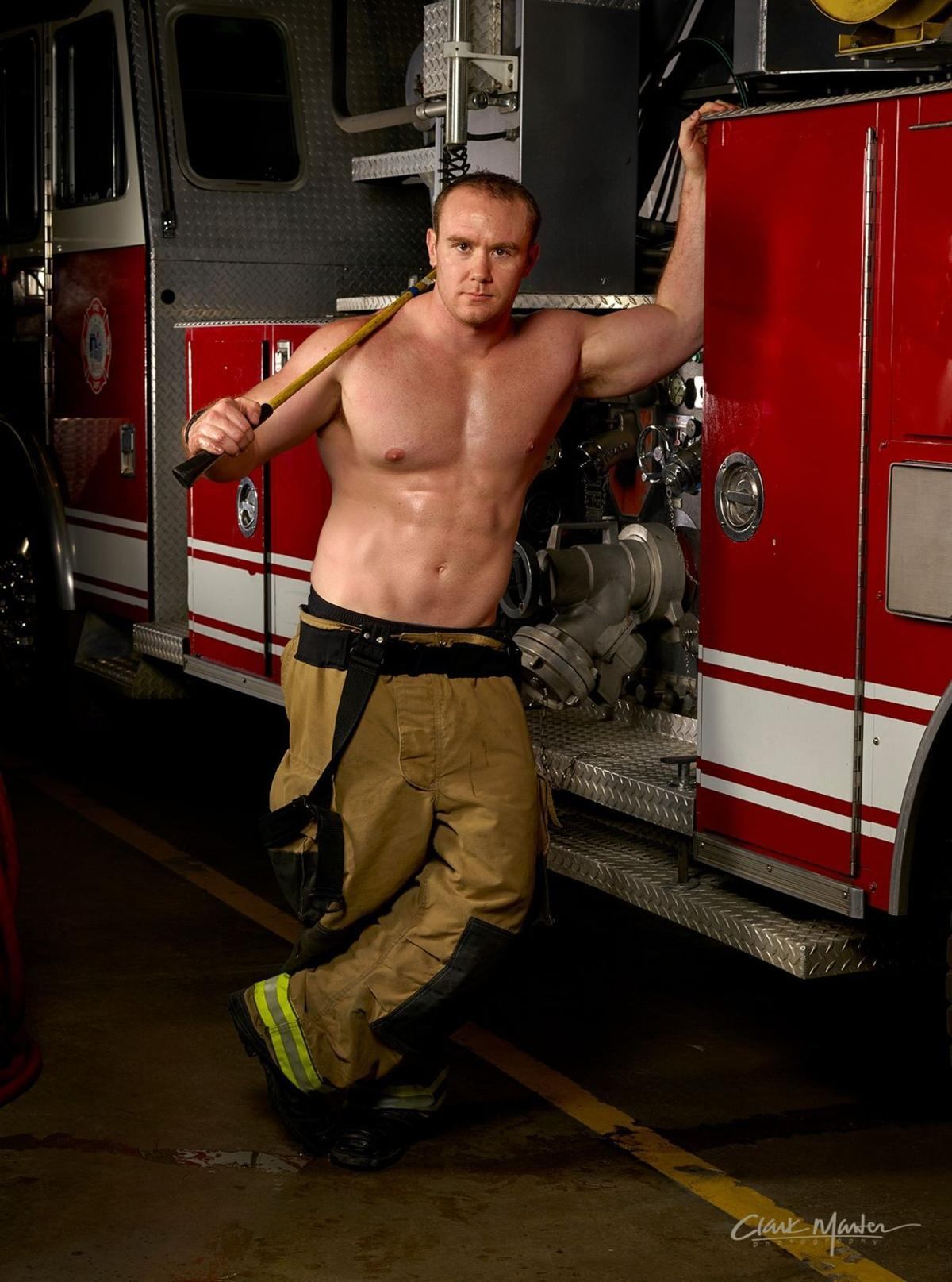 Fireman Calendar May : Billings firefighters remove their gear — and shirts for