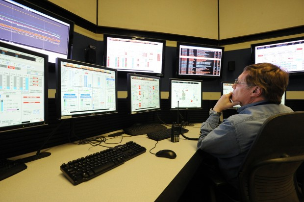 Control room operator Larry Mougey