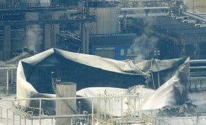 Refinery operating at 'normal' after tank fire
