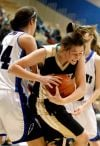 Makenzie Shellnutt fights for a rebound