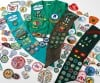 Girl Scout badges and vests