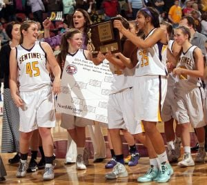 Sentinel girls beat West 48-30 for State AA three-peat