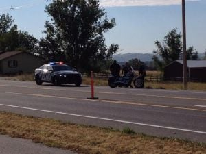 Deer vs. motorcycle crash limits traffic on Rimrock Road