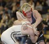 Billings Skyview's Sam Shelton wrestles Dan Gordon of Billings West