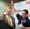 Bob Norbie, President and CEO of Special Olympics Montana, and Joey Lucara