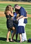 Father's military homecoming a home run