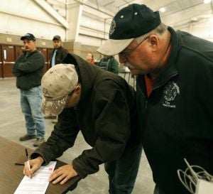 By mid-afternoon, 1,310 people registered to vote at the polls today