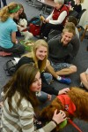 Therapy dogs help Montana State students with test stress