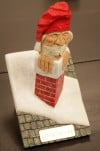 A Santa wood carving by Walt Marten