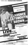 "Clarence ""Gatemouth"" Brown blues poster"