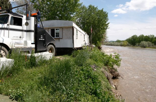 Billings couple forced to leave their home as the Yellowstone River rages dangerously close