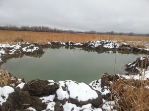 Explosives create new waterfowl habitat