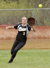 West's Rachael , 3, catches a fly ball