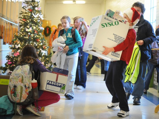 Toys For The Homeless : Highland elementary students collect toys for homeless