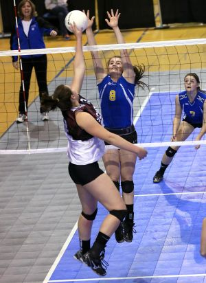 Thursday action from state volleyball in Bozeman