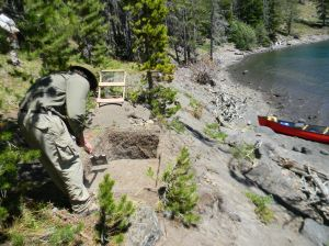 Were early visitors to Yellowstone Lake fish eaters?