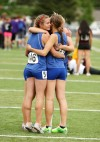 The Corvallis 1600 meter relay team
