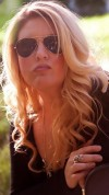 Chelle Rose with sunglasses