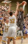 Skyview's Kendal Manuel (23) shoots
