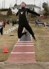 West's Nate Demming won the long jump