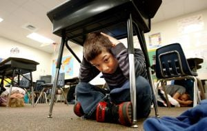 3rd-graders among 156,433 Montanans taking shelter, 'covering their noggins'