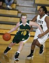 Lexi Pyette of Great Falls CMR drives into the lane