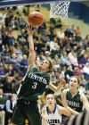 Allie Lucas of Central drives to the basket