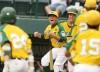 Nick Pratto of California celebrates a two-run homer
